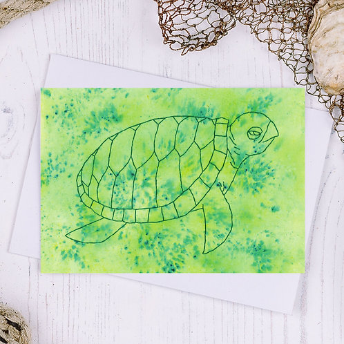 Turtle Greetings Card - A6