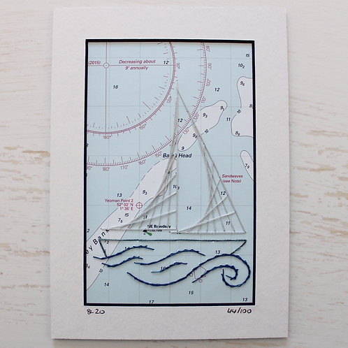 Limited Edition 5x7 Inch Sailing Boat 44/100