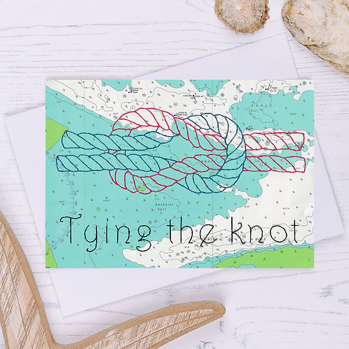 Tying the Knot Greetings Card - A6