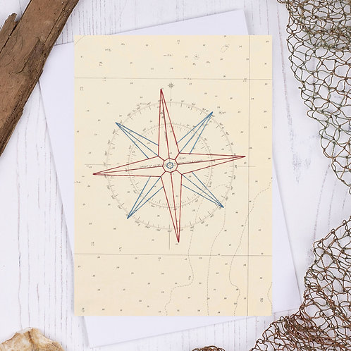 Compass Greetings Card