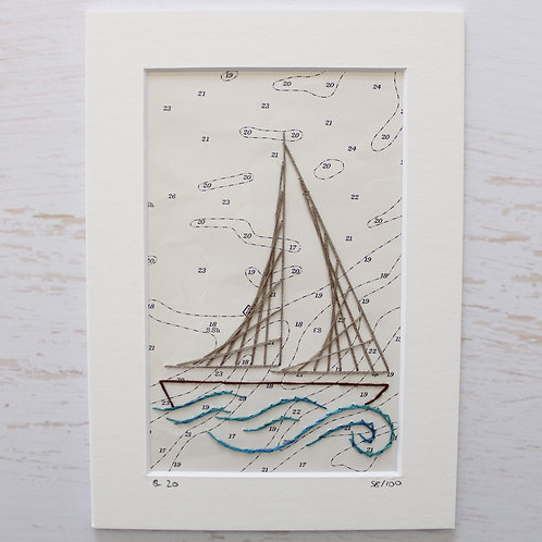 Limited Edition 5x7 Inch Sailing Boat 58/100
