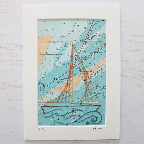 Limited Edition 5x7 Inch Sailing Boat 89/100