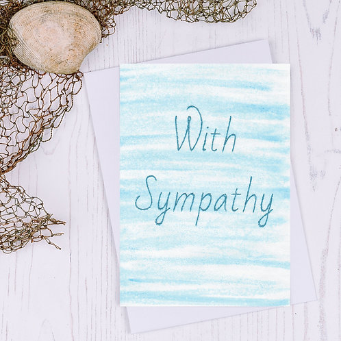 With Sympathy Greetings Card - A6