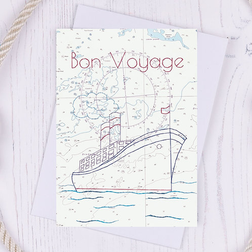 Bon Voyage Greetings Card - A6