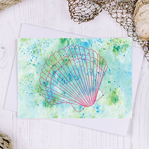 Scallop Greetings Card