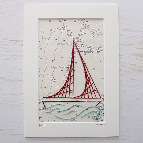 Limited Edition 5x7 Inch Sailing Boat 79/100