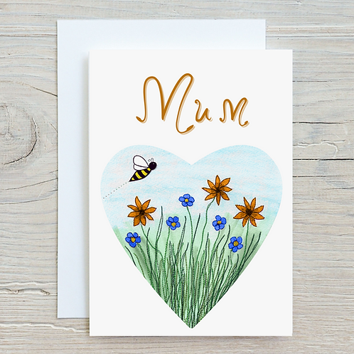 Mum Greetings Card A5