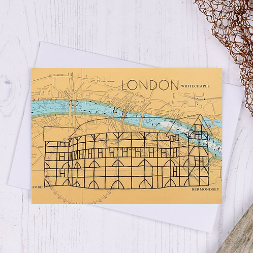 Globe Theatre London Greetings Card - A6