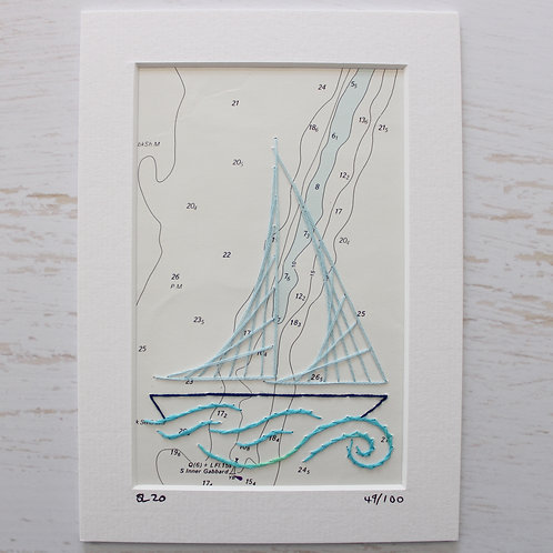 Limited Edition 5x7 Inch Sailing Boat 49/100