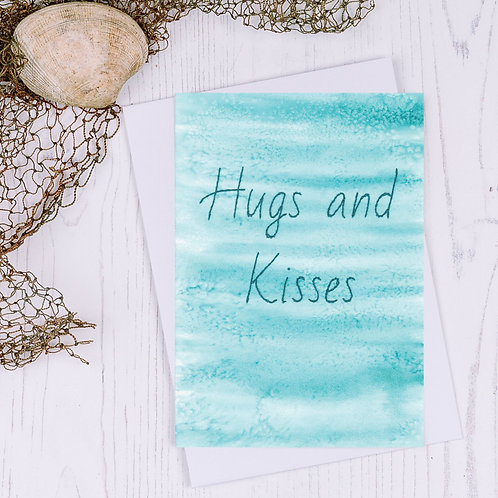 Hugs and Kisses Greetings Card - A6