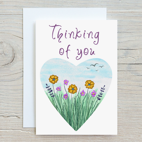 Thinking of you Card - Can be personalised A5