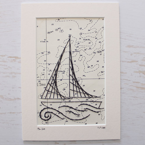 Limited Edition 5x7 Inch Sailing Boat 11/100