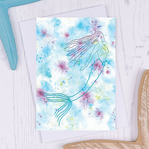 Mermaid Greetings Card - A6