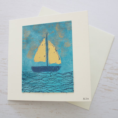 Handmade Square Art Card
