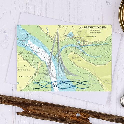 Brightlingsea Sailing Boat Greetings Card - A6