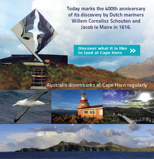 Australis helps mark 400th anniversary of the naming of Cape Horn