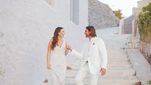 Wedding in Greek island , videographer in Greece