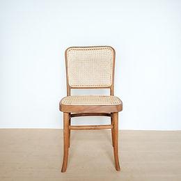 High-Backed Frame Teak and Rattan Chair