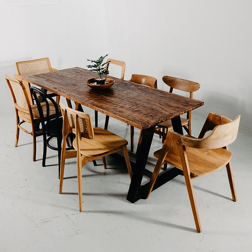 Industrial Chic Rustic Dining Set
