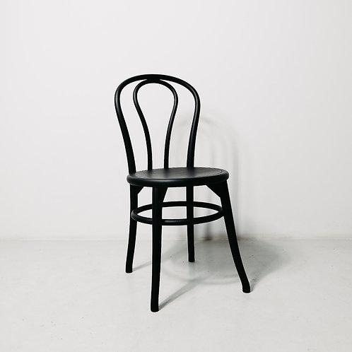 Round Seat Black Chair