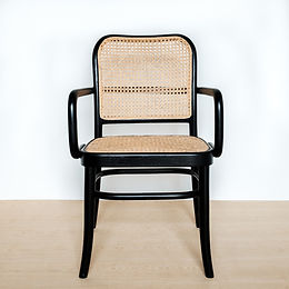 Classic Bevelled High-Back Teak and Rattan Armchair