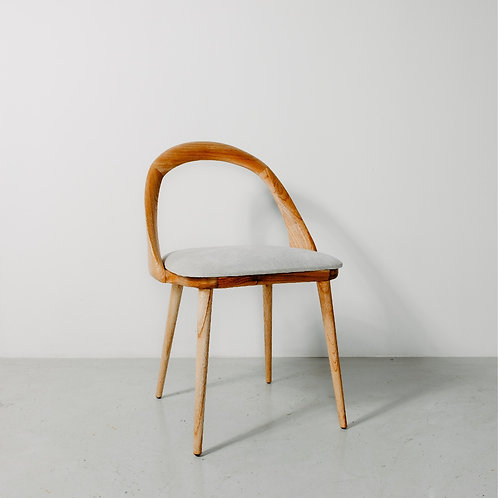 Natural Grey Arc Chair
