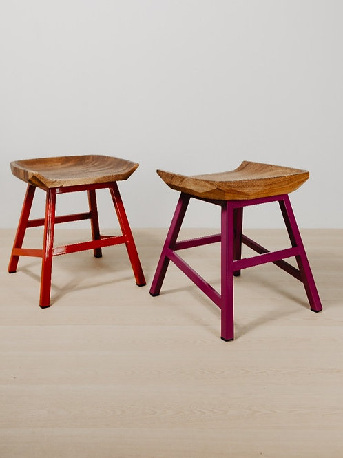 Suar Metal Leg Butt Stool