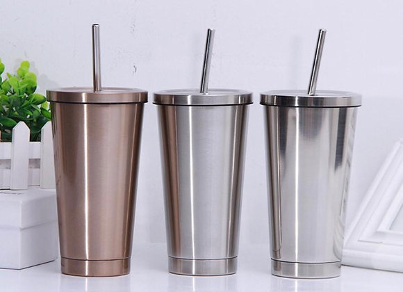 Tumbler - 500ml Stainless Steel Smoothie Tumbler