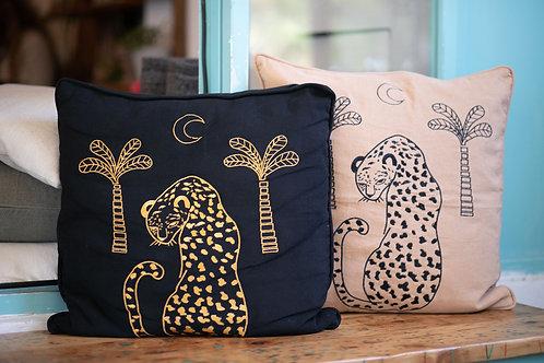 Shy Leopard Cushion