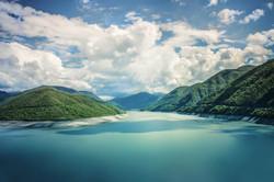 Jinvali reservoir. Tour to Georgia 6 nights 7 days