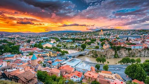 Panoramic view o Tbilisi. Tour around Tbilisi Borjomi Batumi Kutaisi