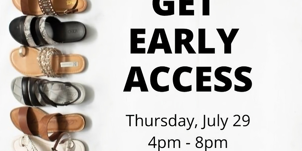 Warehouse Sale Pop-Up Shoe Store Early Access Event