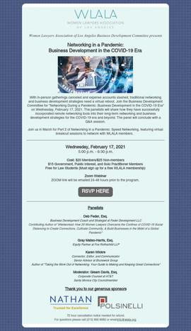 February 17 2021 -  WLALA Networking in