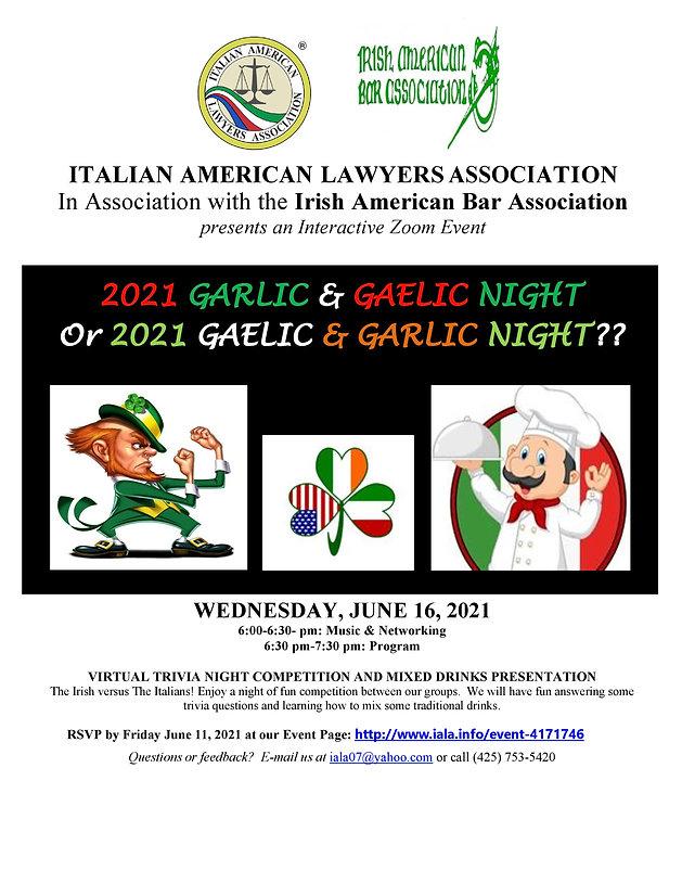 2021-06-16 Garlic and Gaelic Night flyer
