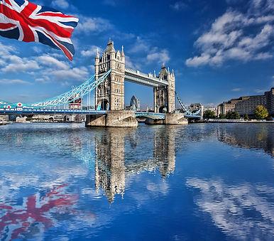 drapeau anglas et ville de londres