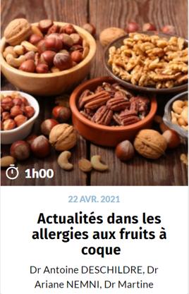 Actualités dans les allergies aux fruit