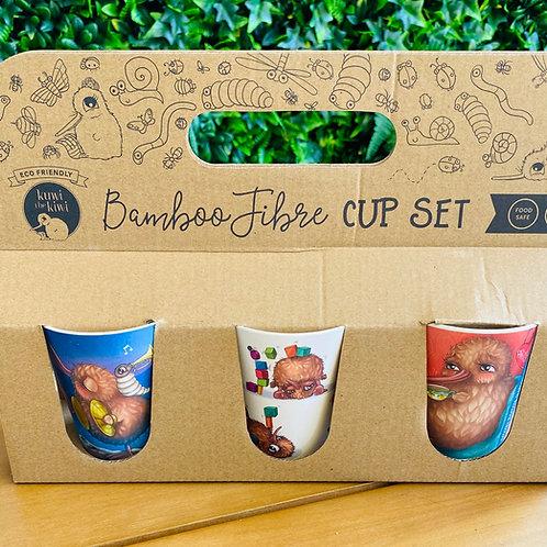 Kuwi the Kiwi Bamboo Fibre Cup Set