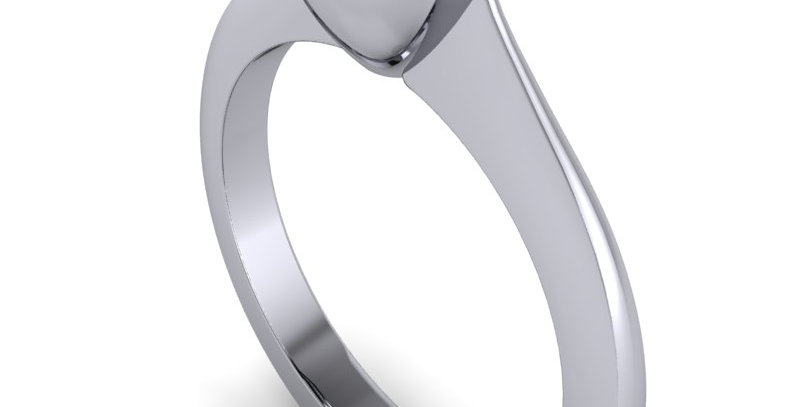Diamond solitaire ring for 1.00ct, set in a modern rub over setting.