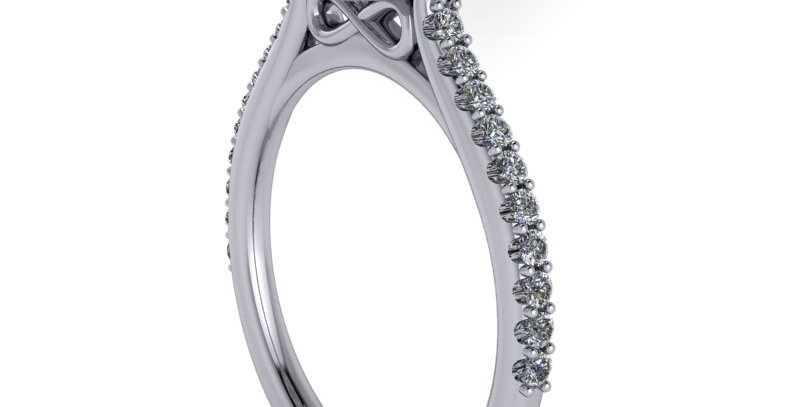 A Diamond Halo ring design for a 1.00ct finger size L (6)