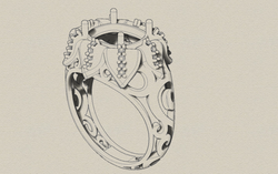 Floral CAD design.