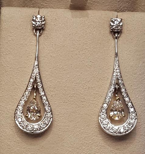 Cocktail Diamond Drop Earrings
