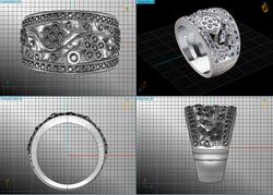 Bespoke Floral Ring I Made.