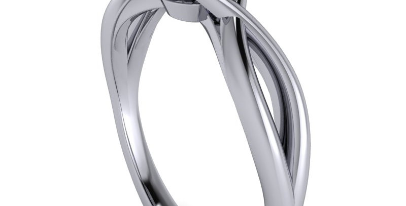 An engagement ring design for a 0.50ct Round brilliant cut diamond.