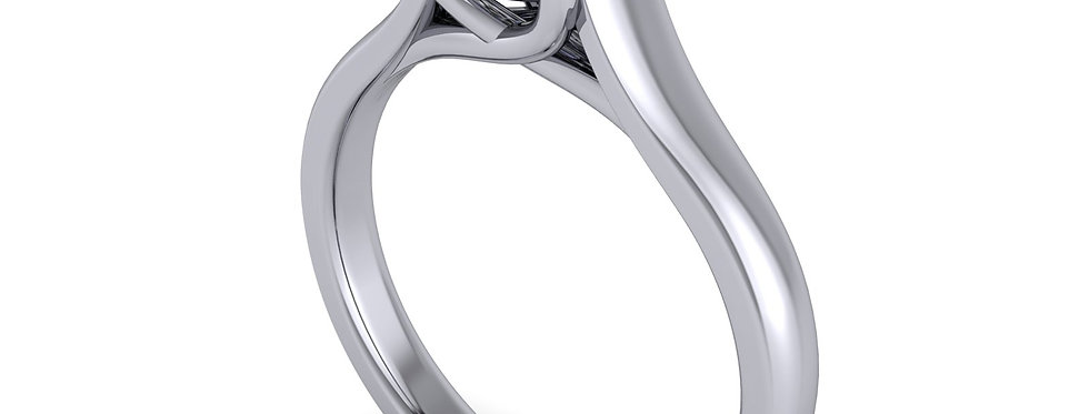 Diamond solitaire ring for 0.80ct finger size L ( 6 )