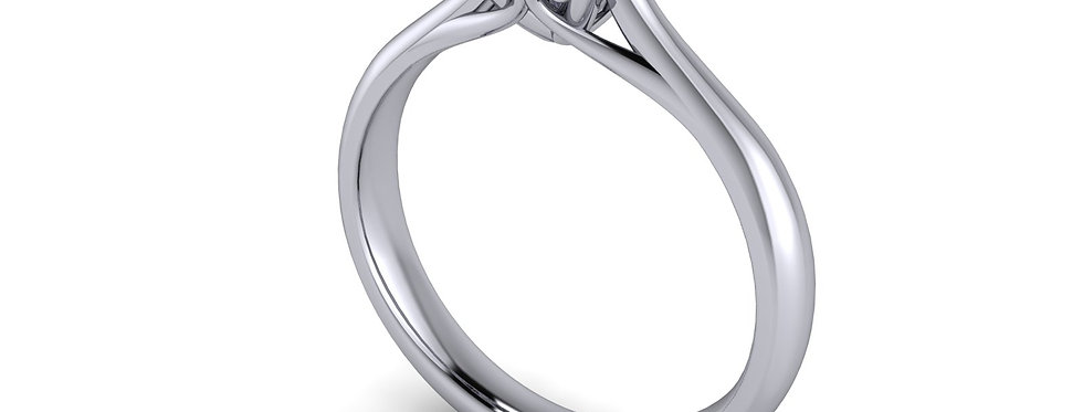 A Solitaire engagement ring design for a 1.00ct diamond. Size M ( 7 )