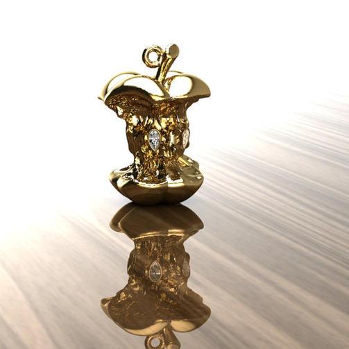 Applecore Charm with Diamond Pips