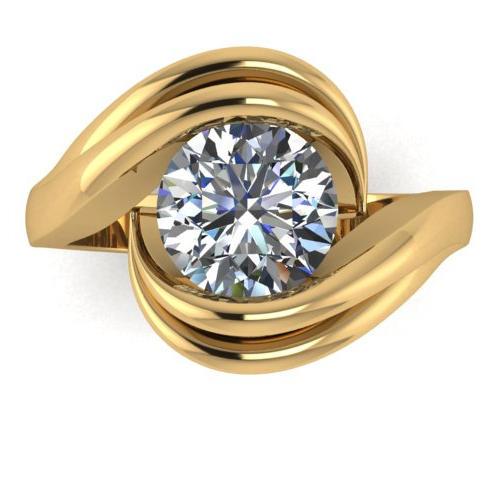 Tension Twist Diamond Ring