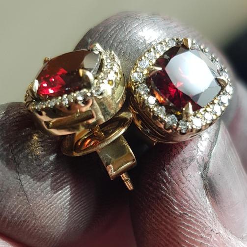 Lovely Garnet Earrings
