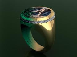Freemasons Bespoke Ring Design.