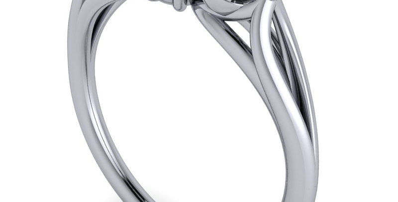 A three stone trilogy ring design, Round Brilliant cut 0.50ct centre.